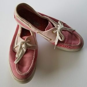 Sperry Top sider shoes pink size 7